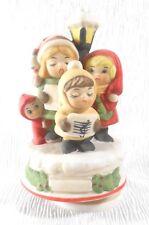 Vintage Mother & Children Carolers Musical Christmas Decor - JOY TO THE WORLD