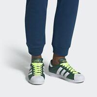 Adidas Originals Superstar BD7419 Collegiate Green Hi-Res Yellow Size 8.5 NWOB