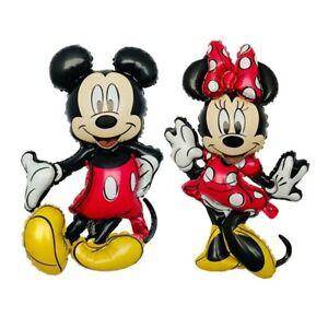 Minnie & Mickey Mouse XXL Aluminiumfolie Ballon Geburtstag Party Dekoration (2x)
