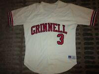 Grinnell College Pioneers #3 Baseball Team Game Worn Used Jersey M medium
