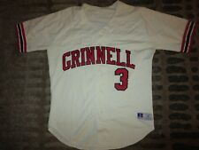Grinnell College Pioneers #3 Baseball Team Game Worn Used Jersey M medium