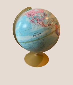 Globe Replogle World Nation Series Vintage 12 Inch Diameter Raised Map #A75