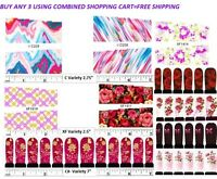 Nail art water transfer decal sticker wrap XF and C series The Pink and Red