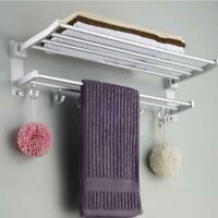 Wall Mounted Towel Rack Holder Hook Hanger Bar Shelf Storage Rail Bathroom SH