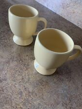 2 Southern Living At Home Hospitality Pedestal Mugs Butter Yellow Gail Pittman