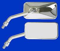Paar Spiegel Chrom Motorradspiegel verchromt Lenkerspiegel Rückspiegel M10 CBF