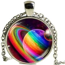 Regenbogen Kette Erde Universum Lesbisch Gay Homo Rainbow Kette Schmuck Geschenk