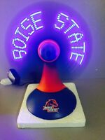 "NEW Boise State Broncos NCAA 12"" Light Up Desktop Message Fan Tailgate Man Cave"