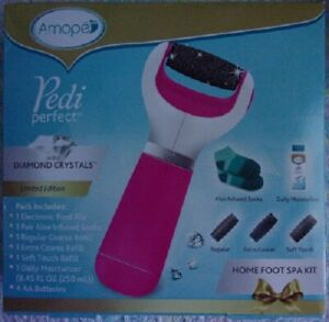 Amope Pedi Perfect with Diamond Crystals Home Foot Spa Kit ~ New Sealed Box