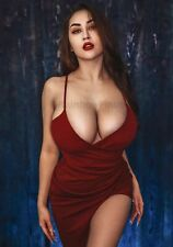 A172 3.5x5 Busty LOUISA KHOVANSKI #1 Showing Her AMPLE CHARMS! (Pinups)