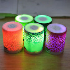 Portable LED Mini Speakers Wireless Bass Speaker With TF USB MP3 Player