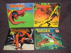 4 x TARZAN Langspielplatten/LP's, Edgar Rice Burroughs, Fontana, Hörspiel, Vinyl
