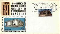 Ersttagsbrief FDC First Day Cover Spanien Spain Espana Briefmarke Ersttag 1969