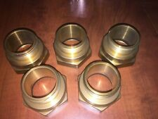 Fire Hose Adapter Hex Fitting Brass 2 To 1 12 Lot Of 5