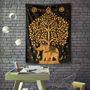 Psychedelic Mandala Hippy Tie Dye Tree of Life Room Decor Wall Hanging Tapestry