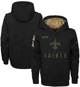 New Orleans Saints Nike Youth Boys 2020 Salute to Service Hoody Sweatshirt
