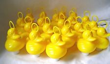 NEW 20 YELLOW DUCKS WITH HOOK AND WEIGHT - PERFECT FOR HOOK-A-DUCK GAMES! 8cm HB