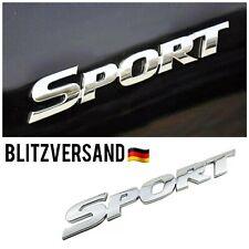 Auto Sport Emblem Badge Sticker Aufkleber Logo 3D Motorsport Silber Schriftzug