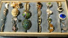 Vintage Jewelry Lot Costume 24 Rings Rhinestone  Avon Assorted Styles Sizes