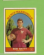 #D112.  1968 SERIES 1 RUGBY LEAGUE CARD #$  BOB BATTY,  MANLY WARRINGAH