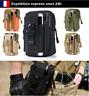 Sacoche Style Militaire Randonnée Scout Trekking Camping Rangements Smartphone