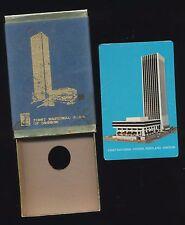 Vtg 70's First National Bank Center (Wells Fargo) Portland Oregon Playing Cards