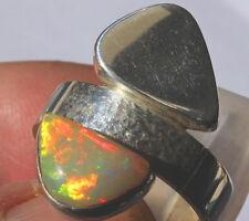 Echter Welo Opal 1.9 Karat 950er Silberring Größe 19,1 mm Unikat