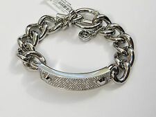 NWT Michael Kors Silver Tone Pave Toggle Bracelet
