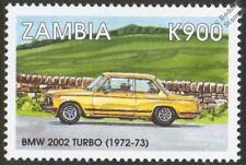 1972-1973 BMW 2002 TURBO Mint Automobile Car Stamp (1998 Zambia)