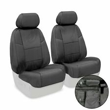 Coverking Front 50/50 Custom Fit Seat Cover for Select Ford, Ballistic Charcoal