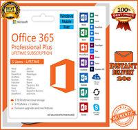 Microsoft Office 365 2019 Pro Plus Lifetime Account For 5 Pcs Mac Win 5 TB Cloud
