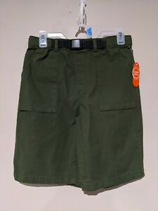 Green Wonder Nation Stretch Adjustable Shorts With Belt Youth L Large NWT