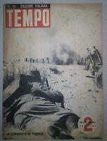 WW2 *TEMPO-RIVISTA D'EPOCA FASCISTA DEL 1942*LA CONQUISTA DI TOBRUK*N.161