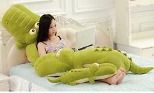 43''Giant Big Crocodile Plush Soft Huge Doll Animal Toy Pillow Kid Birthday Gift