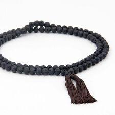 108 Black volcano stone Prayer Beads Mala Necklace Tibet Buddhist 8mm