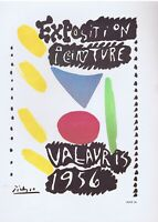 Pablo Picasso, Exposition Vallauris 1956 Vintage Poster Litho 1964 Platesigned