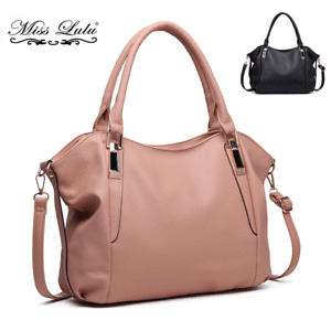 Ladies Designer Soft PU Leather Slouchy Hobo Handbag Tote Shoulder Bag