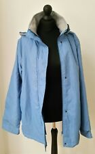 DAMART Womens Lightweight Rétro Parka Pocket Detachable Hooded blue jacket M L