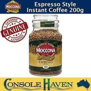 Moccona Espresso Style Instant Coffee 200g Freeze Dried Dark Bold & Intense 10