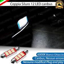 LAMPADE LUCI TARGA SEAT IBIZA 6L CANBUS SILURO C5W 12 LED 6000K NO ERROR