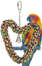 1679 Heart Ring Rope SWING BIRD TOY parrot cage toys cages conure african grey
