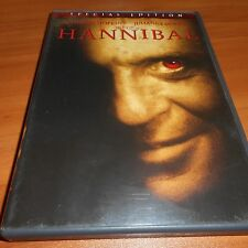 Hannibal (DVD, 2001, 2-Disc Widescreen Special Edition)  Anthony Hopkins Used