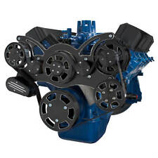 Black Diamond Serpentine System for Ford FE Engines Power Steering & Alternator