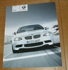 BMW M3 Brochure - E90 Saloon - E92 Coupe - E93 Convertible - 2008 - 4.0 V8