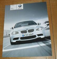 BMW M3 Brochure - E90 Saloon - E92 Coupe - E93 Convertible - 2008 - 4.0 V8
