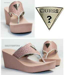 Guess Women's  Flip Flop  Sandal Pink casual and fashion
