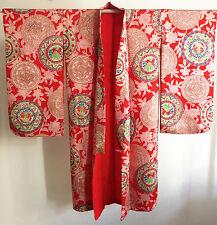 Kimono Mädchen Seide  Japan 1910〜 Seide Art Deco handgenäht antik