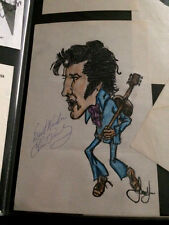 ELVIS PRESLEY Signed / Autograph 'the King' Picture / Drawing 1970's