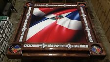 Dominican Flag 3D Image Domino Table by Domino Tables by Art