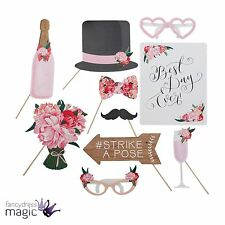 Ginger Ray 9 Pieces Boho Venue Wedding Photo Picture Booth Props Decoration Fun